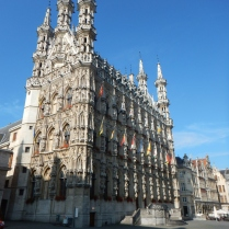 Leuven town hall out of nowhere
