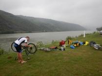 Camping and bike maintenance