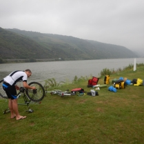 Camping and bike maintenance