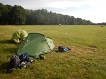 Camping on an airfield national park