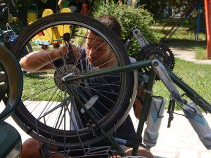 A rare bit of bike maintenance