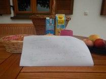 Farmer's wife's morning message to us, Au am Inn, 1 Aug