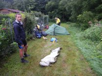 Morning after camping behind allotments in Steyregg, 4 Aug