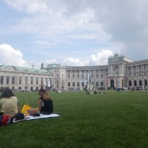 On lawn in front of Hofburg, Vienna, 6 Aug