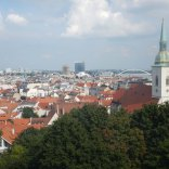 View from castle onto Blue Church, Bratislava, 7 Aug