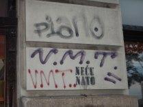 Anti-Nato graffiti, Belgrade, 15 Aug