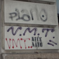 Anti-Nato graffiti, Belgrade, 15 Aug