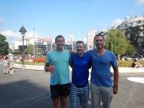 In Republic Square, Belgrade, 15 Aug