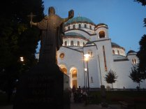 Orthodox cathedral, St. Sava, Belgrade, 15 Aug
