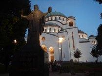 Orthodox cathedral, St. Sava, Belgrade, 15 Aug