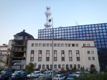 Site of Nato-bombed TV tower in 1999, Belgrade, 15 Aug