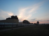 Camping next to the tobacco factory outside Pleven before the thunderstorm, 22 Aug