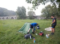 Camping underneath the bridge in Byala after meeting Nikolai, 24 Aug