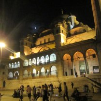 New Mosque lit up at night, Istanbul, 3 Sept