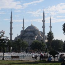 View onto Blue Mosque from Haghia Sophia, 3 Sept