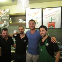 Starbucks celebration upon start of visa process! Istanbul, 5 Sept
