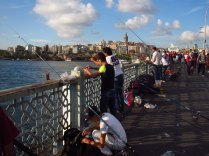 Fishermen on Galata Bridge, Istanbul, 8 Sept