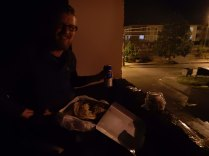 Romantic meal in Karasu building site, 17 Sept 14