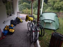 Camping behind first and only petrol station nr Zonguldak, overnight 19-20 Sept 14