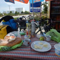 Breakfast spread, 25 Sept 14