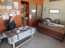 Breakfast at a baker's in Tekkekoy, 27 Sept 14