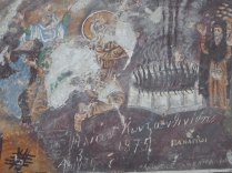 Graffiti from 1875 at the Sumela Monastery, 2 Oct 14