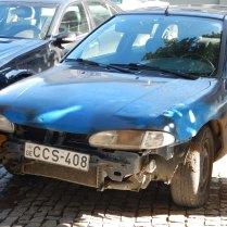 Typical Georgian car - bumperless, 7 Oct 14
