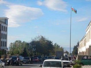 Azerbaijan likes huge flags, 18 Oct 14