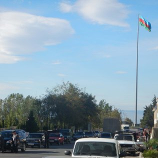 Azerbaijan likes huge flags, 18 Oct 14