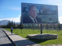 Pictures of President Eliyev everywhere, 18 Oct 14