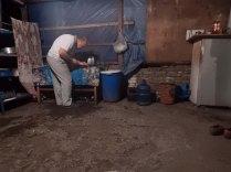 Cooking dinner near Qax, 18 Oct 14