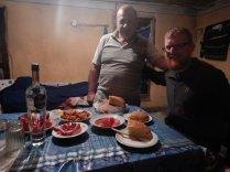 Dinner near Qax, 18 Oct 14