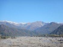 Caucasus mountain scenery nr Georgian border