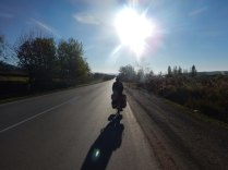 Riding into the morning sun, 22 Oct 14