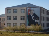 Eliyev on a building, 22 Oct 14