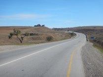 Approaching Qobustan desert, 22 Oct 14