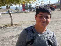 Azeri kid at our cay stop, 22 Oct 14
