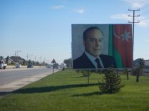 Eliyev greets us into Baku, 23 Oct 14