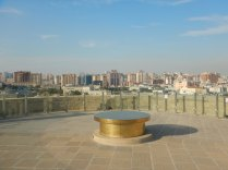 View from Maiden's Tower across Old Town, Baku, 23 Oct 14