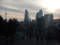 View towards new Flame Towers, Baku, 23 Oct 14
