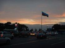 Sunrise on our visa run to the Turkmen Consulate, Baku, 24 Oct 14