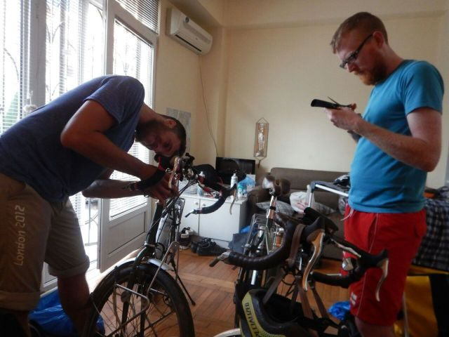 Flat turns into bike workshop in Tbilisi