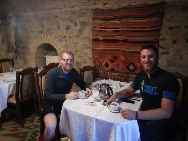 Tea in a Sheki caravanserai