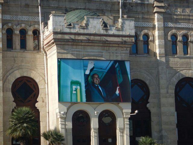 Aliyev waving