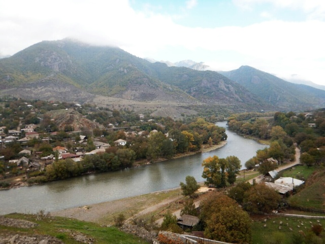 The River Cyrus on its way to Tbilisi
