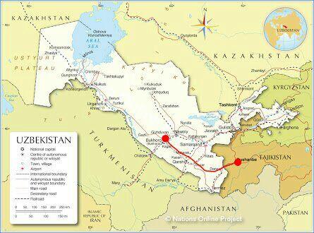 Leaving Bukhara for the Tajikistan border and the capital Dushanbe