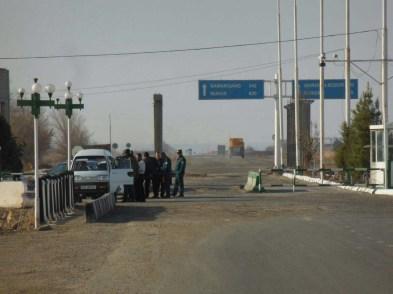Typical Uzbek checkpoint