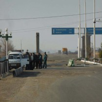 A typical Uzbek checkpoint
