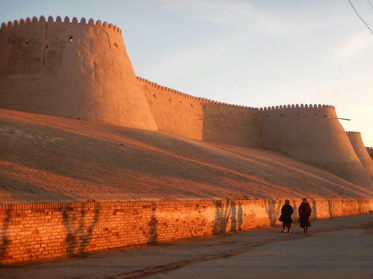 Sunset in Khiva, 8 Nov 14
