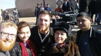 Uzbek TV team in Khiva, 9 Nov 14